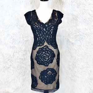 Sue Wong floral embroidered beaded evening dress